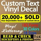 Custom Vinyl Lettering Decal Personalized Sticker Name Window Text Wall Car