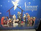 Kirkland Signature CHRISTMAS NATIVITY 13 Piece Porcelain with Wood Creche