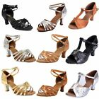 Womens Ballroom Latin Tango Salsa Tango Dance Shoes Heeled Dancing US All Sz