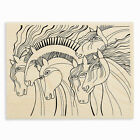 LAUREL BURCH Wild Horses Wood Mounted Rubber Stamp Stampendous LBR005 NEW
