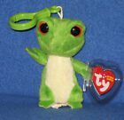 TY GUS the GECKO KEY CLIP BEANIE - MINT with MINT TAG