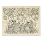 HOUSE MOUSE Strawberry Treat Wood Mounted Rubber Stamp Stampendous HMR100 NEW