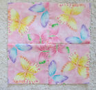15 7 square BUTTERFLIES ON PINK W SPARKLES Kaleidoscope Quilt Blocks  SEWN