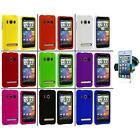 Color Hard Snap On Rubberized Case Cover+Windshield Mount for HTC Sprint EVO 4G