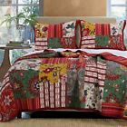 Greenland Home Fashions Arcadia Multi Colored Full/Queen Size Quilt Set, 3-Piece