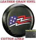 LINED VINYL Spare Wheel Tire Soft Cover Protector 27 Honda CRV US Flag Image