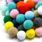 100PCS 10 30mm Assorted Fluffy Pom Poms Childrens DIY Crafts Pompoms Ball