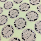 Made With Love Sticker 63 Gift Packaging Seal Birthday in Brown Kraft Adhesive