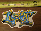 RARE Lost Enterprises Old School BLUE YELLOW Sticker Surf Skate Snow Board Decal