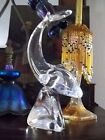 Modernist Art Glass Shark Fish Signed Kristaluxus Crystal John Riekes Design 10
