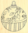 Christmas Ornament Wood Mounted Rubber Stamp IMPRESSION OBSESSION D16045 New
