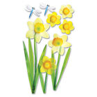 Daffodils Yellow Dragonfly Dragonflies Jolees 3D Stickers