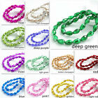 New color 20pcs Faceted Teardrop glass crystal Spacer beads DIY 8x12mm