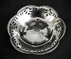 CO MAKERS STERLING SILVER RETICULATED FOOTED CANDY, NUT BOWL ca 1900