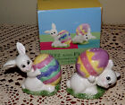 Fitz and Floyd Gathering Eggs Salt and Pepper Shakers Easter in Original Box