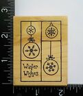 Winter Wishes By Great Impressions Christmas Ornaments Craft Rubber Stamp 40A