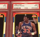 1986 Fleer Patrick Ewing And Ewing PSA 9 w consecutive serial #s
