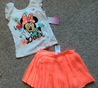 Minnie Mouse girls 2pc outfit w skirt girls size 2T