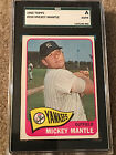 MICKEY MANTLE 1965 TOPPS #350 SGC AUTHENTIC NEW YORK YANKEES HOF Look Close Up!