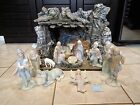 The Valencia Collection Nativity Set by Roman INC 1987 13 Pieces PLUS STABLE
