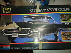 1986 MONOGRAM 57 CHEVY SPORT COUPE 1/12 SCALE -BUILT MODEL KIT-#2800