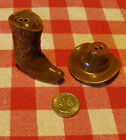 COWBOY HAT AND BOOT SALT AND PEPPER SHAKER SET
