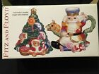 FITZ AND FLOYD ESSENTIALS NUTCRACKER SWEETS SUGAR BOWL AND CREAMER ~ In Box