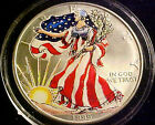 1999 AMERICAN EAGLE One Oz Fine Silver Dollar COLORIZED