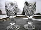 WATERFORD IRISH CRYSTAL... CORDIAL  GLASSES... DONEGAL PATTERN... SET OF TWO