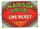 Scarce 1950s Madison Lime Rickey WIisconsin ssodal label Tavern Trove