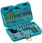 Makita P-90233 75 Piece Drill Bit Holesaw Flat Bit Socket HSS Wood Drill Set New