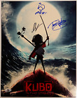 KUBO and the TWO STRINGS Cast (3) Signed 11x14 Photo Parkinson Beckett BAS COA