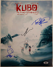 KUBO and the TWO STRINGS Cast (3) Signed 11x14 Photo #2 Parkinson Beckett BAS