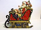Fitz and Floyd Regal Holiday Musical Sleigh Plays Toyland Christmas Santa