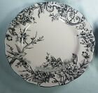 NEW 222 FIFTH AdelaidePink Silver EASTER SPRING TOILE DINNER PLATES S/4