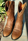 Ariat Mens Sedona Brown Leather Motorcycle Cowboy Riding Biker Boots Size 10 D