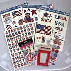 USA 4th of July Patriotic Scrapbooking Stickers Kit Set Lot Beary Patch Summer