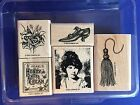 Stampin Up Days Gone By Victorian Style 2002 Rubber Stamps Purple Retired
