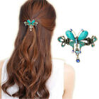 Women Crystal Turquoise Butterfly Flower Hairpins Vintage Hair Barrettes Clip