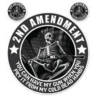 Lethal Threat 2ND Amendment Sticker For Motorcycle Windshield Fairing Decal
