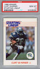 CURT WARNER Seattle Seahawks 1988 Kenner Starting Lineup PSA 10 Pop 6