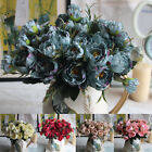 29cm SMALL Artificial Peony Silk Flowers Head Floral Fake For Wedding Home Decor