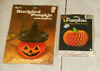 vintage Beistle Halloween honeycomb PUMPKIN  Reed BEWITCHED PUMPKIN new sealed