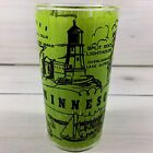 Hazel Atlas Minnesota Souvenir Glass Green Split Rock Lighthouse Minnehaha  5