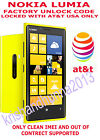 Unlock Code Clean ATT USA Nokia Lumia Mural 6750 E71x IMEI OUT OF CONTRACT