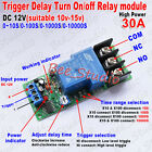 High Power 30a Trigger Control Delay Timer Switch Turn Onoff Time Relay Module