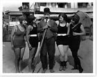 Silent Movie Film Comedian Billy Bevan With Bathing Beauties Silver Halide Photo