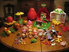 Lot Vintage STRAWBERRY SHORTCAKE DOLLS, TOYS - Bake Shop, Gazebo, Carousel etc.