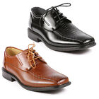 Mens Lace Up Square Toe Dress Classic Oxford Shoes