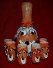 MURANO CLOWN DECANTER + GLASSES Complete SET Made In Venice ITALY Magnificent